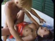 Getting banged by a blonde stud