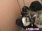 schoolgirl fuck with amateur man in washroom 002