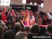 Amateur video shot at huge european sex show