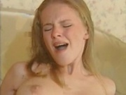 skinny blonde with hairy wet pussy