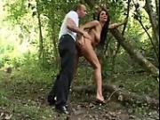 Lisa Sparkle fucked in the wood