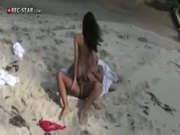Real hot girl getting fucked on the beach