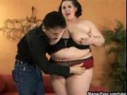 Big slut taking big stiff cock