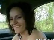 Cheating milf Deepthroating me in my car