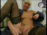 Young european blonde masturbates then fucks some cock
