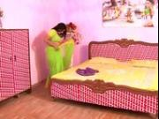 Hot Northindian Busty Aunty seduce with young boy servant at alone in home
