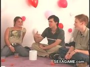 Fun with the new students in sexgame on campus