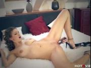 She Puts the Dildo in Deep!