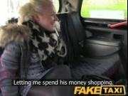 FakeTaxi Young blonde sucks an old taxi mans cock