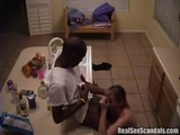 Cheating lovers fuck in the kitchen