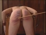 Vintage Teens Striped Naked And Caned On Bare Asses
