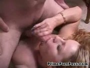 Cute blonde teen shows her blowjob skills