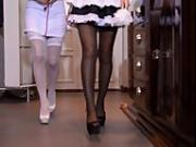 Candy Sweet and Taylor Sands in Panthyhose Fetish