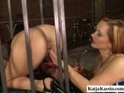 Dildo Fucking In A Cage