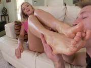Lubed up Foot Licking Foreplay Leading to a Full Fledged Banging