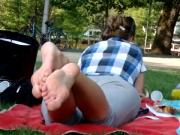 Watch These Two Cute Women Have Their Bare Feet Filmed Outdoors
