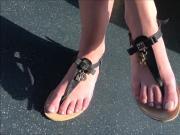 Soft feet in sandals in public