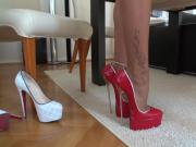 German Tamia shows off sexy heel collection