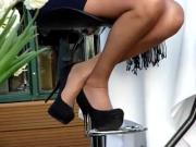 Black pumps in outdoor cadid shots