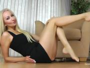 JOI blonde with British accent