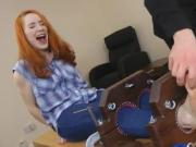 Redheaded cutie bound and force tickled