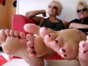 Mature Southern belles tease with toes