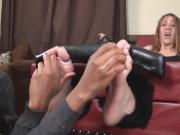 Hot Girl Gets Her Feet and Body Relentlessly Tickled By Hot Black Chick