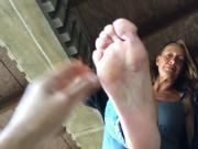 Older woman has very nice feet