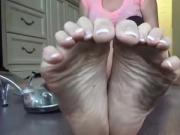 Adorable Asian Girl Talks To You While Showing Off Her Dirty Little Feet