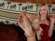 Hot Blonde Tickled Pink Foot Fetish