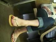Gorgeous Feet In Sandals Get Secretly Filmed On The Train
