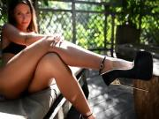 Julie SkyHigh in super high heels talking about her shoe fetish