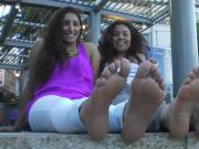 Spanish feet shown off on street