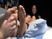 Foot tickling cracks Latina up