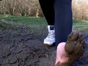 Watch Jetta As She Runs Through The Forest And Gets Her Feet All Muddy