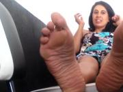 Sexy Mature Woman Relaxes While You Play With Her Beautiful Feet
