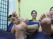 Young foot teasing JOI queens