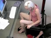 This Beautiful Domineering Blonde Disciplines Her BF Using Just Her Feet
