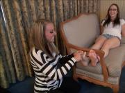 Tied to a chair and feet tickled