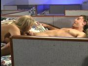 Stud getting his dick mouth massaged and drained by hot blond