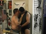 Fat gay dudes fucking in warehouse
