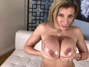 Sexy MILF Kiara Mia Fishnet Stockings Deepthroats And Fucked