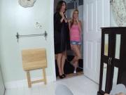 Cute Hope Harper and MILF Mia Ryder enjoy in hot threesome