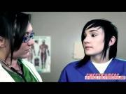 Dr Sinns pervert lesbian fucking at the clinic in scissor sex