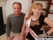 Anal slut Alex pegged by a big tittied femdom pornstar