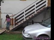 Teen petite anal pain and korean teen fuck Michelle pummeled on the hood