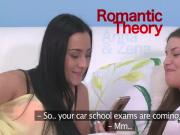Teen lesbians studying and fucking