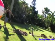 Gaystraight fratboy gayblowjob at outdoor hazing