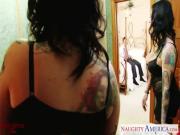 Tattoed brunette wife Scarlet LaVey fucking