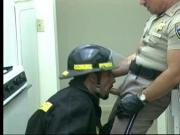 Gay fireman sucks cock of police officer then he returns the favor